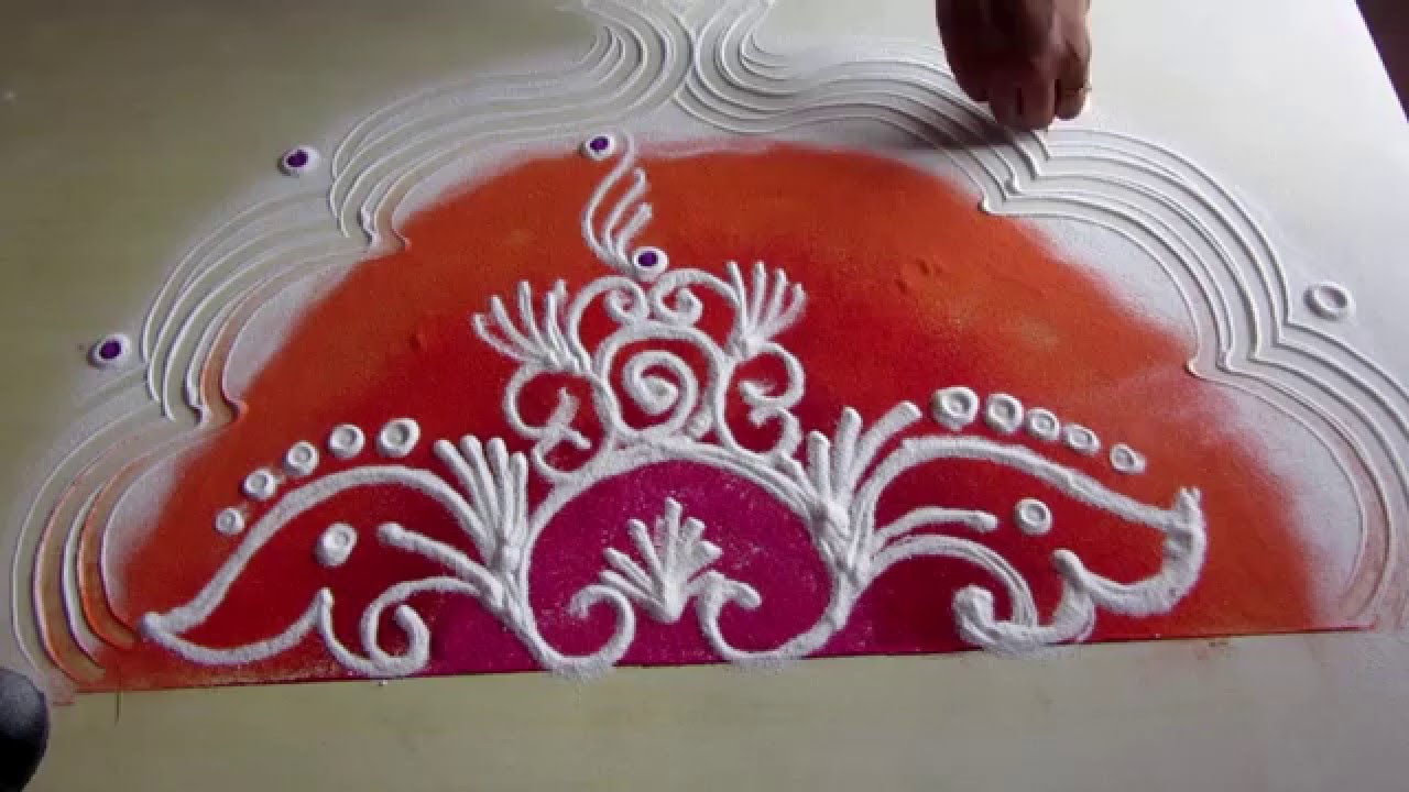 powdered rice rangoli design