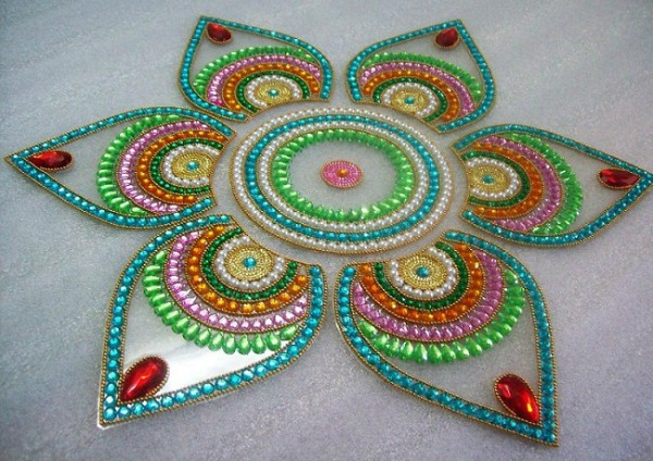 stylish rangoli design for deepawali