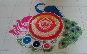 stylish rangoli design for diwali