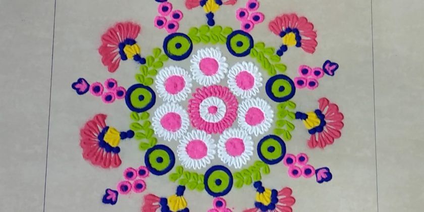 unique rangoli design