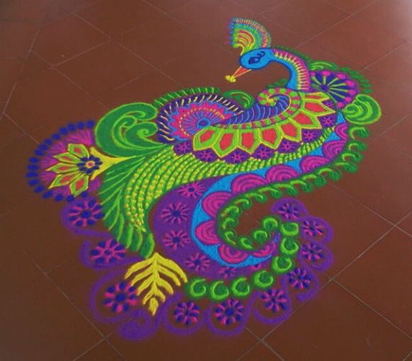 multicolor rangoli design